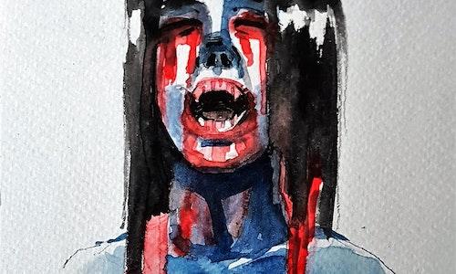 Watercolour Head Shot