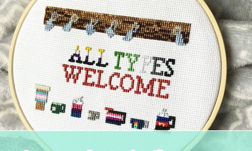 All Types Welcome Cross Stitch Pattern