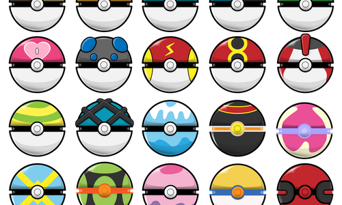 High- Res Pokeball Icons