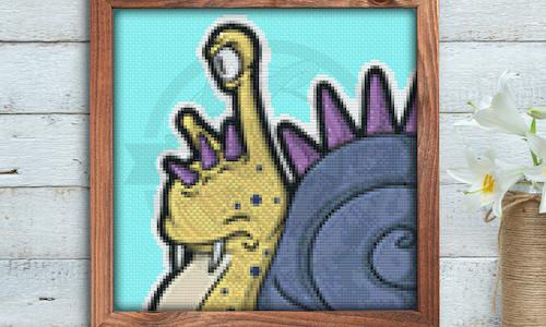 [CROSS STITCH PATTERN] Evil Snail