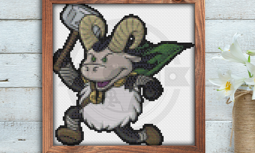 [CROSS STITCH PATTERN] Viking Sheep