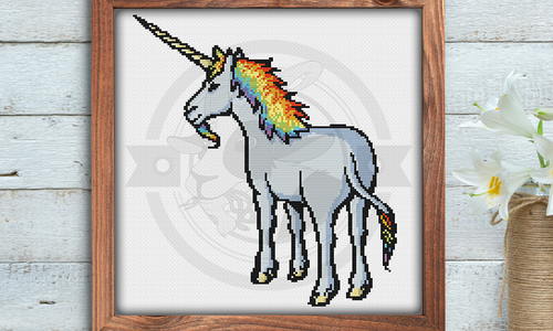 [CROSS STITCH PATTERN] Rainbow Unicorn