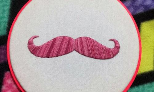 Moustache Iron-on Transfer