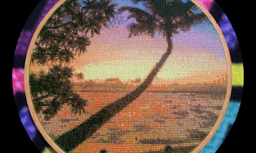 [CROSS STITCH PATTERN] Tropical Sunset