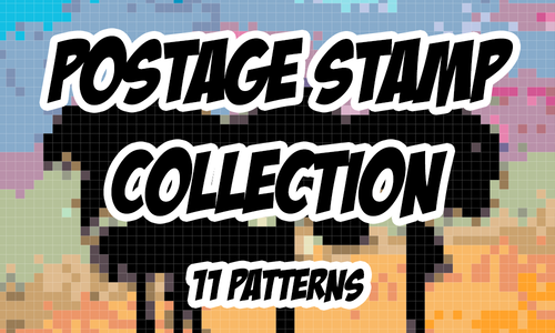 Postage Stamp Pattern Collection - 11 Patterns