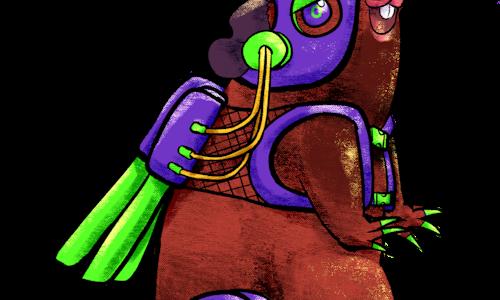Guinea-Wingie Adoptable | Cyber