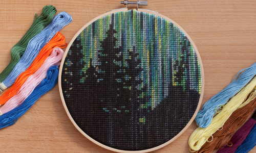 Northern Lights - Cross Stitch Pattern