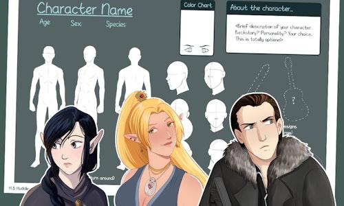 Character Design-- CUSTOM Reference Sheet!