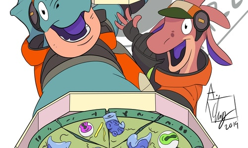 Full Color Cartoon Style